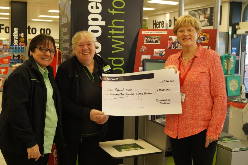 Co op cheque donation pic